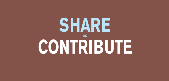 share or contribute